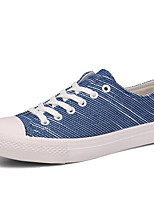 Women's Sneakers Spring / Fall / Winter Comfort Canvas Outdoor / Casual Flat Heel Lace-up Blue / White Others