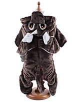 Dog Costume Clothes/Jumpsuit Dog Clothes Winter Spring/Fall Animal Cute Cosplay Gray Coffee