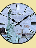 1PC Occident To Restore Ancient Ways is Contracted Wall Clock(Pattern is Random)
