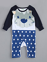 Girl's Casual/Daily Animal Print Overall & JumpsuitCotton Fall Blue