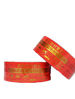 Two Red Background Gold Words Tapes Per Pack