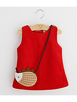 Girl's Casual/Daily Animal Print Tank & CamiCotton / Rayon Spring / Fall Black / Red