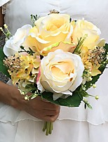 Wedding Flowers Round Roses Bouquets Wedding Party/ Evening Satin 8.66
