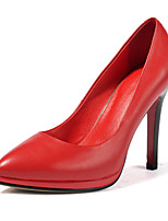 Women's Heels Fall Cowhide Casual Stiletto Heel Others Black Red Others