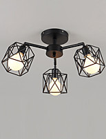 E26/E27 Flush Mount   Traditional/Classic for Designers MetalLiving Room / Bedroom / Dining Room / Kitchen / Study
