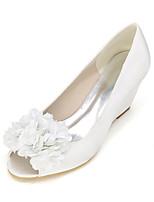 Women's Heels Spring / Summer / Fall Wedges / Peep Toe Silk Wedding / Party & Evening