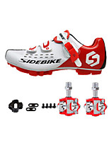 SD01 Cycling Shoes Unisex Outdoor / Road Bike Sneakers Damping / Cushioning White / Red-sidebike And Red Rock Pedals