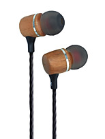 Premium Genuine Wood In-ear Noise-isolating HeadphonesEarbudsEarphones Cherrywood Earbuds Wooden Headphones