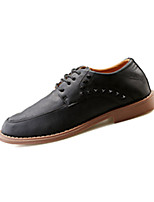 Men's Sneakers Spring / Fall Comfort PU Casual Flat Heel Black / Brown / Gray Sneaker