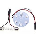 BA9S t10 feston adaptateurs dôme 5050 9SMD 3 puces LED RGB lumière voiture dôme ou lampe de lecture 12v