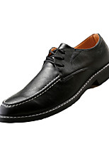 Men's Oxfords Spring / Fall Comfort / Pointed Toe PU / Tulle Office & Career Flat Heel Others / Lace-up Black / Brown