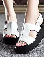 Women's Sandals Summer Comfort PU Casual Platform Others Black White Others