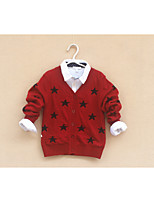 Girl's Casual/Daily Geometric Sweater & CardiganCotton Winter / Fall Purple / Red