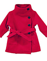 Girl's Casual/Daily Solid Down & Cotton PaddedPolyester Winter / Fall Purple / Red / Gray