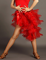 Latin Dance Skirts Women's Performance Viscose Draped 1 Piece Black / Red