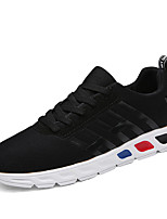 Men's Sneakers Spring / Fall Comfort Tulle Casual Flat Heel Black / Blue / Gray Sneaker
