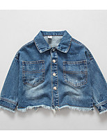 Girl's Casual/Daily Embroidered JeansCotton Spring / Fall Blue