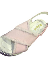 Women's Sandals Summer Sandals PU Casual Wedge Heel Hook & Loop Pink / White Others