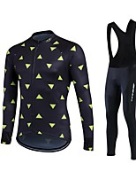 Sports® Cycling Jersey with Bib Tights Women's / Men's / Unisex Long SleeveBreathable / Thermal / Warm / Quick Dry / Fleece Lining /