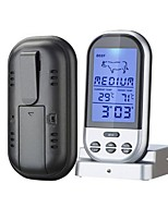 Wireless BBQ Thermometer Проводной Others Food and temperature, timer display, thermometer alarm function черный увядает