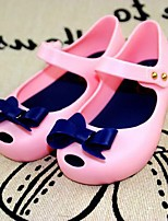 Girl's Sandals Summer Sandals / Open Toe PVC Casual Flat Heel Bowknot Blue / Pink / Purple / Fuchsia Others