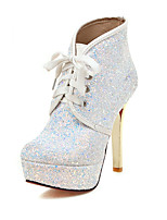 Women's Boots Spring / Fall / Winter Platform / Fashion Boots Synthetic / Glitter Wedding / Casual Stiletto HeelSequin