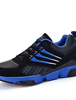 Men's Sneakers Spring / Fall Comfort PU Casual Flat Heel Black / Blue / Red / Royal Blue Sneaker