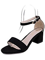 Women's Sandals Summer Sandals Microfibre Outdoor Chunky Heel Others Black / Pink / Gray / Beige Others