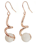 Earring Others Drop Earrings Jewelry Women Fashion Wedding / Party Gold Plated / Opal 1 pair Gold