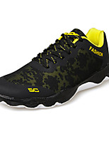 Men's Sneakers Spring / Fall Comfort Tulle Athletic Flat Heel Lace-up Yellow / Green / Black and White Basketball