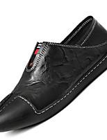 Men's Loafers & Slip-Ons Comfort Cowhide / Leather Casual Flat Heel Jewelry Heel Black / Blue / White
