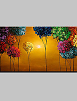 Large Size Hand Painted Modern Abstract Art Tree Landscape Oil Painting On Canvas With Stretched Frame Ready To Hang