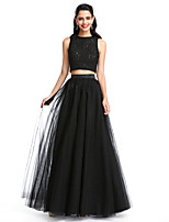 TS Couture® Formal Evening Dress A-line Jewel Floor-length Lace / Tulle with