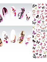 Nail Design Water Transfer Nails Art Sticker Colorful Butterfly Nail Wraps Sticker