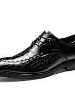 Men's Oxfords Spring/Summer/Fall / Winter Comfort Patent Leather Office & Career / Casual Chunky Heel Black