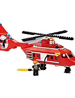 Building Blocks For Gift  Building Blocks Model & Building Toy Car / Helicopter Plastic Above 6 Red / White Toys