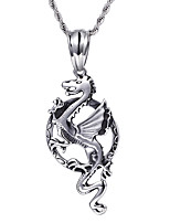 Kalen®2016  New Dragon Necklace Fashion 316L Stainless Steel Chinese Lucky Dragon Pendant Necklace  Gifts
