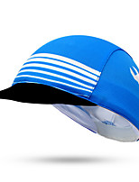 Cycling Cap Hat Bike Windproof Sunscreen Unisex Blue Terylene