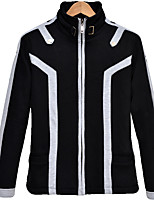 Inspired by  Art Online Kirito Anime Cosplay Costumes Cosplay Tops/Bottoms Solid / Print Black Long Sleeve Coat