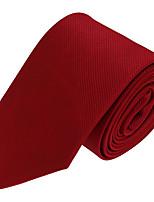 Для мужчин Винтаж / Для вечеринки / Для офиса / На каждый день Галстук,Полиэстер Однотонный,Красный Все сезоны
