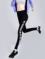 Women's Running Tights Yoga Fitness  Running Sweat-wicking Compression  Lightweight Materials Gray  Black