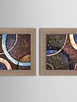 Handgemalte Abstrakt / Landschaft / Fantasie / Blumenmuster/Botanisch Ölgemälde,Modern / Realismus / Europäischer Stil Zwei Panele