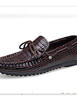 Men's Loafers & Slip-Ons Spring Summer Fall Gladiator Leather Office & Career Casual Party & Evening Flat Heel Others Blue Brown Others