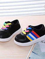 Unisex Sneakers Spring / Fall Flats Tulle Casual Flat Heel  Black / White Sneaker
