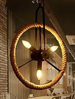 40W Lámparas Colgantes ,  Cosecha Pintura Característica for LED MetalSala de estar / Dormitorio / Comedor / Baño / Habitación de