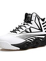 Черный Красный Белый-Мужской-Повседневный-Полиуретан-На плоской подошве-Удобная обувь-Кеды