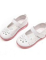 Girl's Sandals Spring / Summer Sandals Microfibre Casual Flat Heel Others Pink / White Others