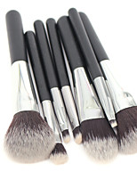 7Bürsten-Satz- / Rouge Pinsel / Lidschatten Pinsel / Lippenpinsel / Wimpernbürste / Eyeliner Pinsel / Concealer Bürste / Puderpinsel /