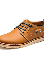 Men's Oxfords Comfort Nappa Leather Office & Career / Party & Evening Flat Heel Split Joint  Walking Shoes EU38-43