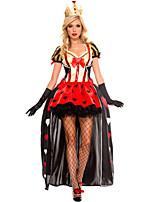 Costumes de Cosplay / Costume de Soirée Reine Fête / Célébration Déguisement Halloween Rouge Mosaïque Robe / Plus d'accessoiresHalloween